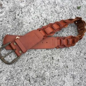 Hollister brown leather belt small